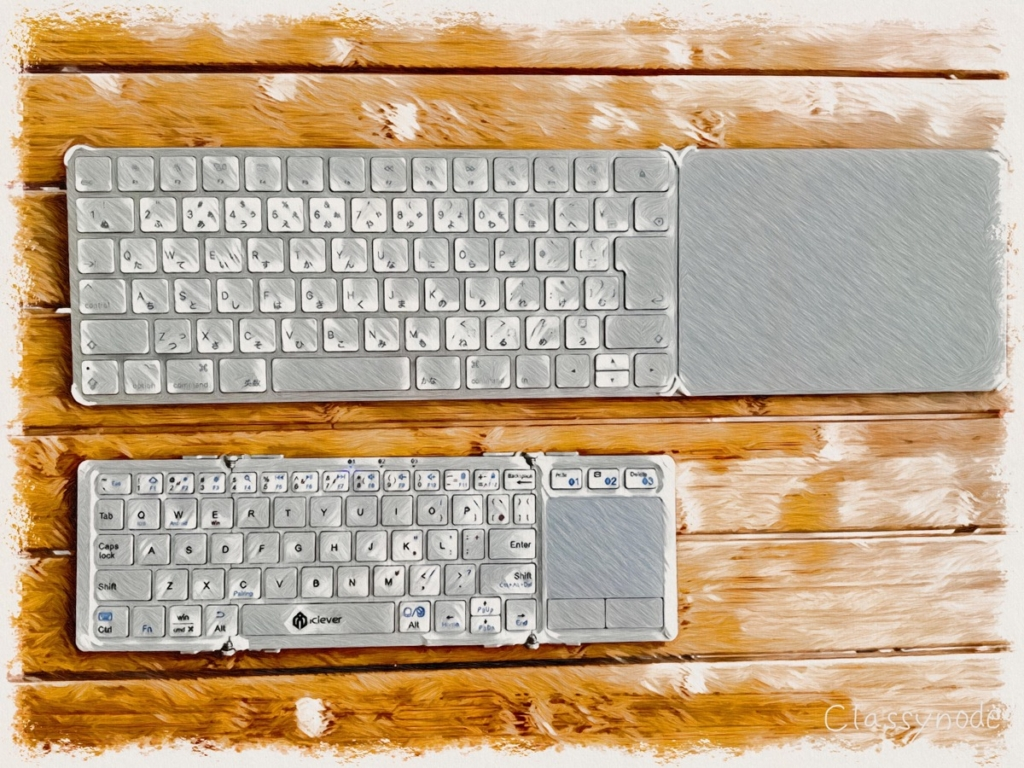 iClever Bluetooth 折りたたみキーボード(IC-BK08)のレビュー